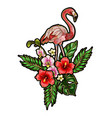 printflamingo embroidery patches vector image vector image