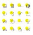 retro icons vector image vector image