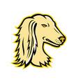 saluki or persian greyhound mascot vector image vector image