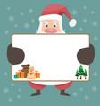 santa cluas cartoon and merry christmas vector image vector image