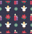 seamless pattern background with lovely christmas vector image