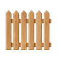 Seamless wooden fence vector image vector image