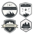 Set of camping and outdoor activity logos vector image vector image
