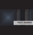 square pattern set frosty morning seamless vector image vector image