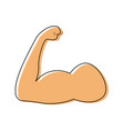 strong power muscle arm biceps icon vector image vector image