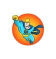 superhero flying logo vector image