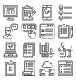 survey feedback and customer online reviews icons vector image