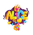the emblem of alice vector image vector image