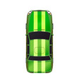 top view realistic glossy green sport car on vector image