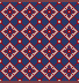 traditional knitting pattern for ugly sweater vector image