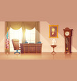 us president office interior cartoon vector image