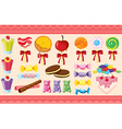 various sweets and wallaper vector image vector image