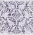vintage damask flourish ornamented pattern vector image vector image