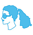 woman head witn sunglasses vector image vector image