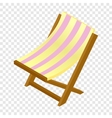 Wooden chaise lounge isometric 3d icon vector image vector image