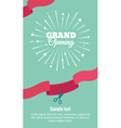 Grand opening vertical banner vector image