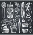 healthy life sketch collection vector image