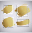 abstract golden paint brush stroke hand draw vector image vector image