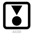 acid conceptual graphic icon vector image vector image