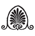 anthemion motive is a motif in decorative art vector image vector image
