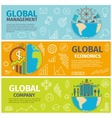 banners global management economics company vector image vector image