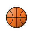 basketball ball icon design flat in black vector image vector image