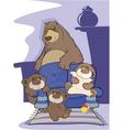 Big bear family vector image