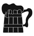 big beer mug icon simple style vector image vector image
