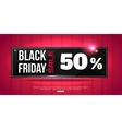 Black Friday Super Sale shining horizontal banner vector image vector image