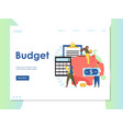 budget website landing page design template vector image