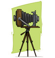 cartoon retro vintage camera on tripod icon vector image vector image