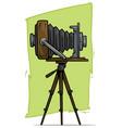 cartoon retro vintage camera on tripod icon vector image