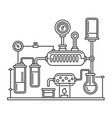 chemistry laboratory infographic with some vector image vector image