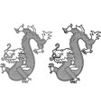 chinesse dragon picture vector image vector image