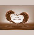 chocolate abstract splashes 3d vector image vector image