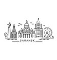 city saransk in outline style on white vector image vector image