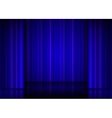Close view of a blue curtain vector image vector image