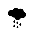 Cloud rain icon Weather sign vector image