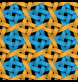 colored seamless patternweaving paper blue and vector image
