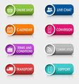 Colored set rectangular buttons web design vector image vector image