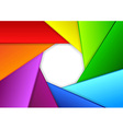 Colorful background in a shape of camera shutter vector image vector image