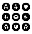 concept family help icons vector image vector image