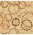 Cream coffee samless pattern vector image