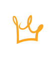 crown logo on white vector image vector image