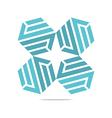 design icon letter s hexagon zigzag symbol vector image vector image