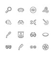 eye care and optometry - flat line icons vector image
