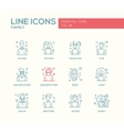 Family - line design icons set vector image vector image