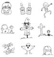 Flat Halloween character doodle vector image vector image