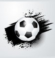 footballsoccer ball with splash in the background vector image vector image