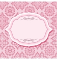 Frame on patterns in pastel pink vector image